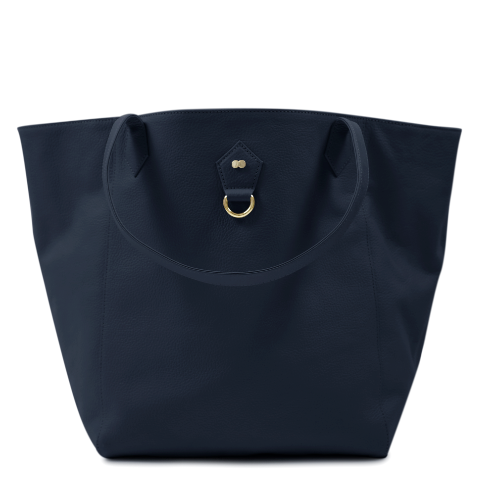 FRIDA Shopper Navy Blau Orange Front