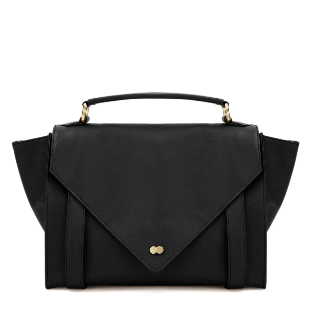Satchel Bag Schwarz Leder Project OONA OLGA