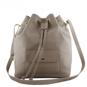 VICKY Bucket Bag Taupe Front