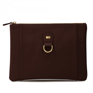 VIVIAN Clutch Bag Chocolate Brown Front