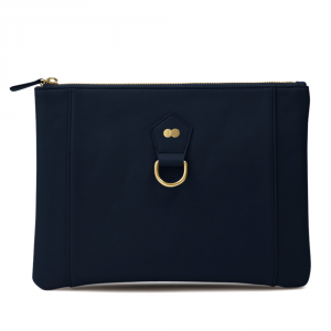 VIVIAN Clutch Bag Navy Blau Front