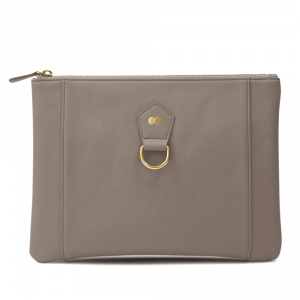 VIVIAN Clutch Taupe Front