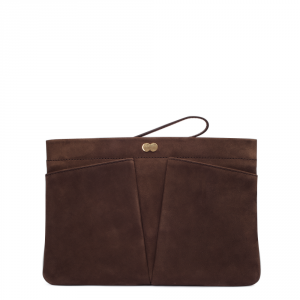 FLORENCE Clutch Bag Braun Front