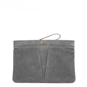 FLORENCE Clutch Bag Grau Front