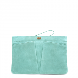 FLORENCE Clutch Bag Mint Grün Front