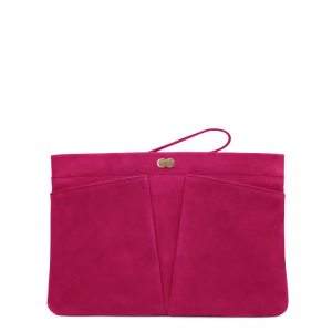 FLORENCE Clutch Bag Pink Front