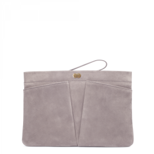 FLORENCE Clutch Bag Taupe Front