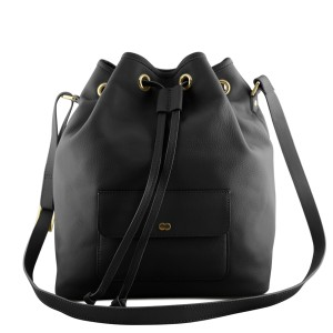 VICKY Bucket Bag Schwarz Front