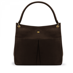 LUISE Shoulder Bag Braun Front