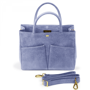 LETIZIA Business Bag Bio Lachsleder Organic Hellblau Blau Handtasche Tasche Made in Germany