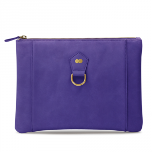 VIVIAN Clutch Bag Nubuk Lila