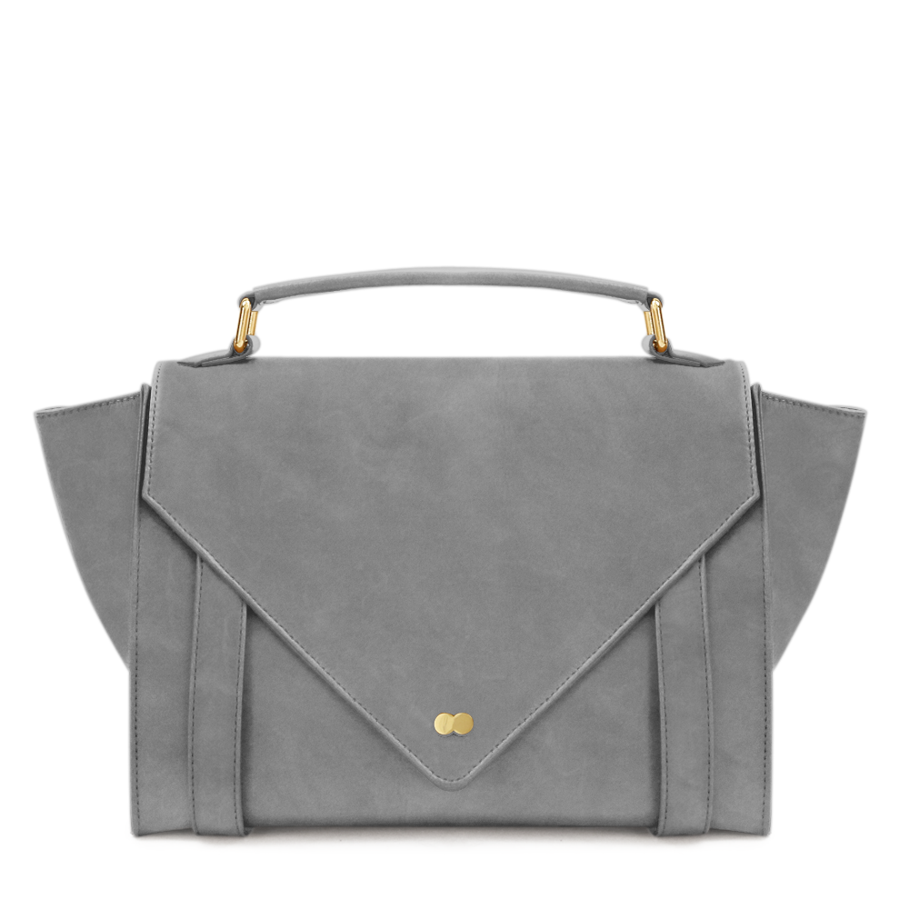 Satchel Bag Grau Leder Nubuk Project OONA OLGA