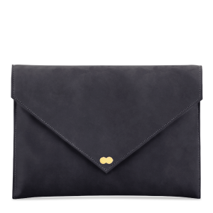 EMILIE Clutch Nubuk Schwarz Clutch Bag Project OONA Wildleder Velours Leder