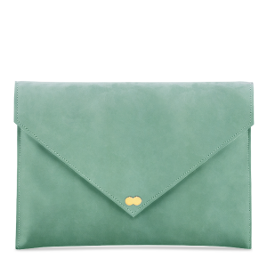 EMILIE Clutch Nubuk Mint Clutch Bag Project OONA Wildleder Tasche Handtasche Berlin Velours Leder