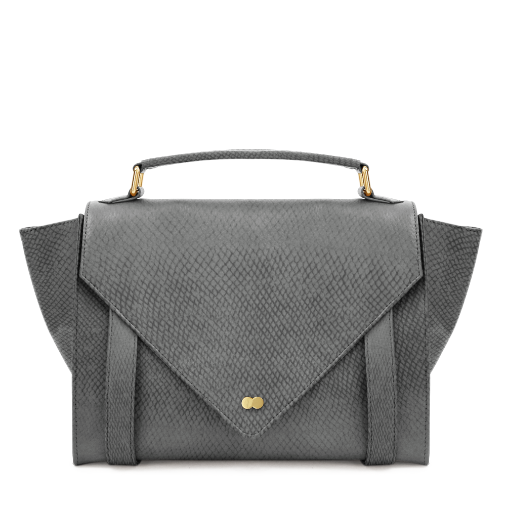 Luxus Satchel Bag Bio Leder Grau Project OONA OLGA