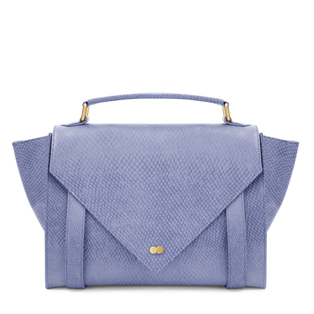 Luxus Satchel Bag Bio Leder Blau Project OONA OLGA