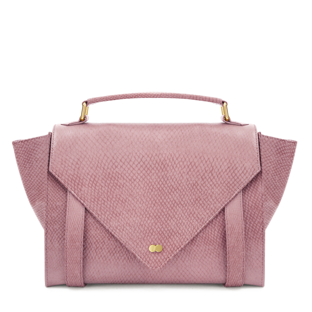 Luxus Satchel Bag Bio Leder Rosa Project OONA OLGA