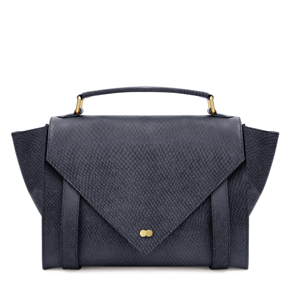 Luxus Satchel Bag Bio Leder Schwarz Project OONA OLGA