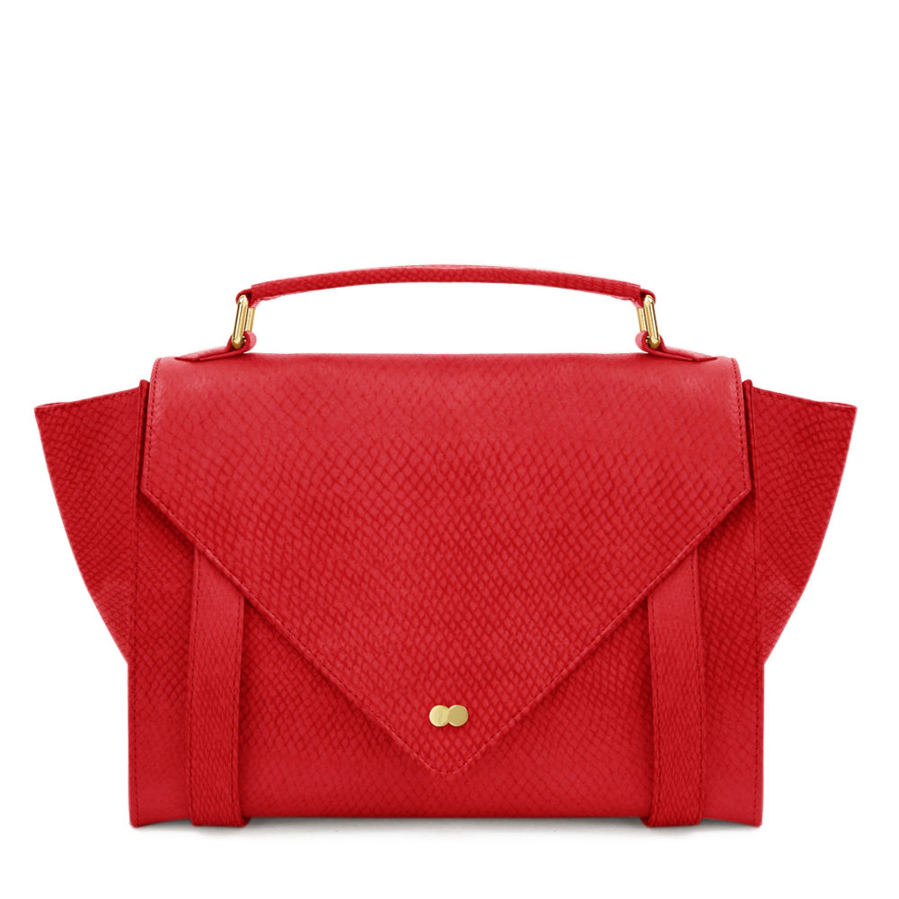 Luxus Satchel Bag Bio Leder Rot Project OONA OLGA