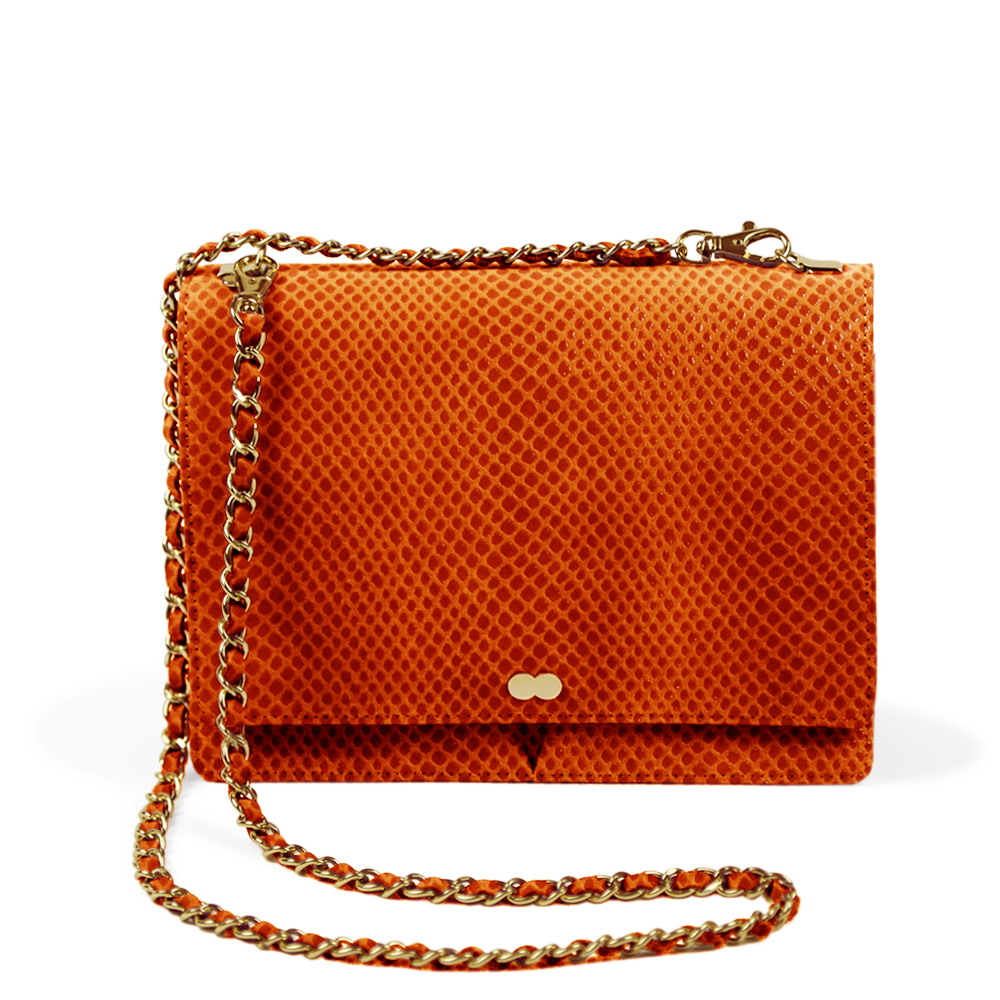 Luxus Tasche Orange Vegan Project OONA AURELIE