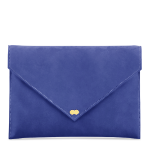 EMILIE Clutch Nubuk Capri Blue Clutch Bag Project OONA Wildleder Velours Leder