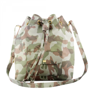 VICKY Camouflage Rock Green Handtasche Abendtasche Project OONA Ledertasche Ledermuster Made in Germany