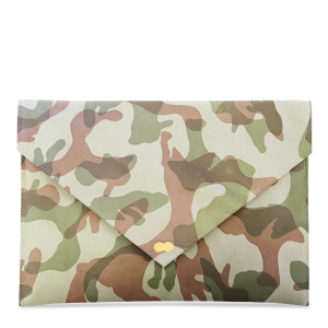 EMILIE Clutch Bag Limited Camouflage Rock Green Handtasche Clutch Ledertasche Project OONA