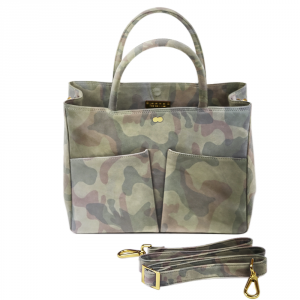 LETIZIA Camouflage Jungle Green Handtasche Abendtasche Project OONA Ledertasche Ledermuster Made in Germany Project OONA Handtasche Businesstasche Ledertasche