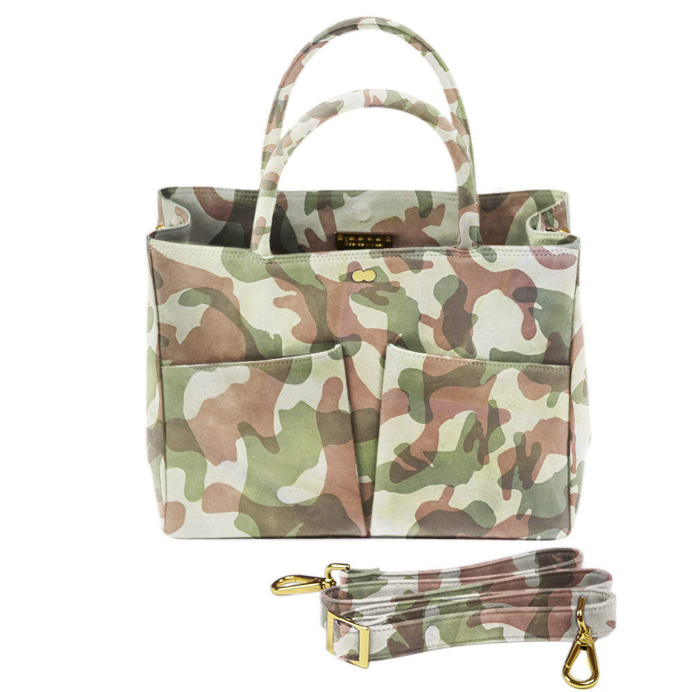Business Tasche Grün Camouflage Leder Nappa LETIZIA Project OONA