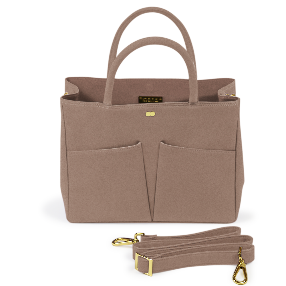 Business Tasche Beige Taupe Leder Nappa LETIZIA Project OONA
