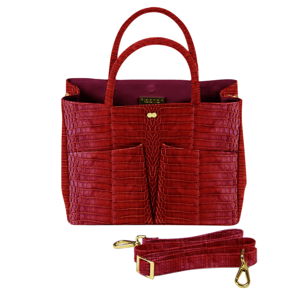 Business Tasche Kroko Rot LETIZIA Project OONA