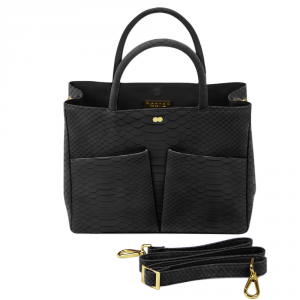 Business Tasche Pythonleder Optik Schwarz Project OONA