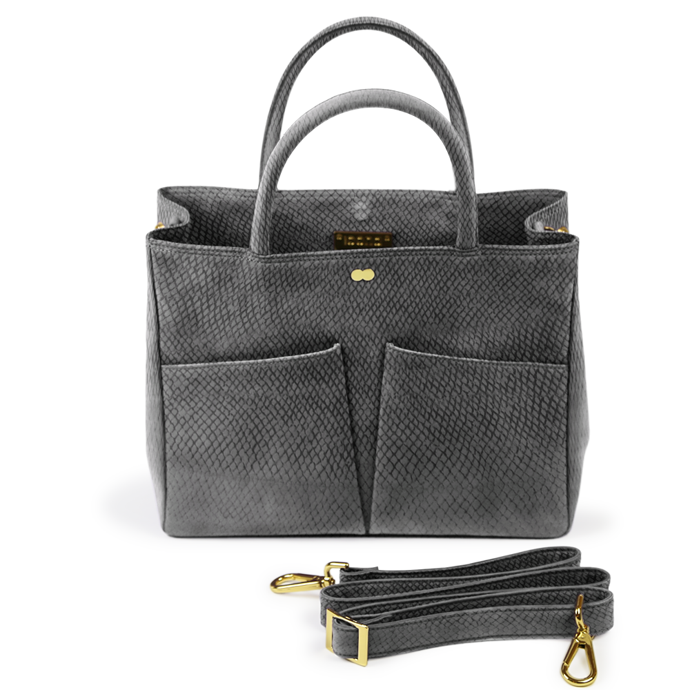Luxus Business Tasche Bio Grau LETIZIA Project OONA