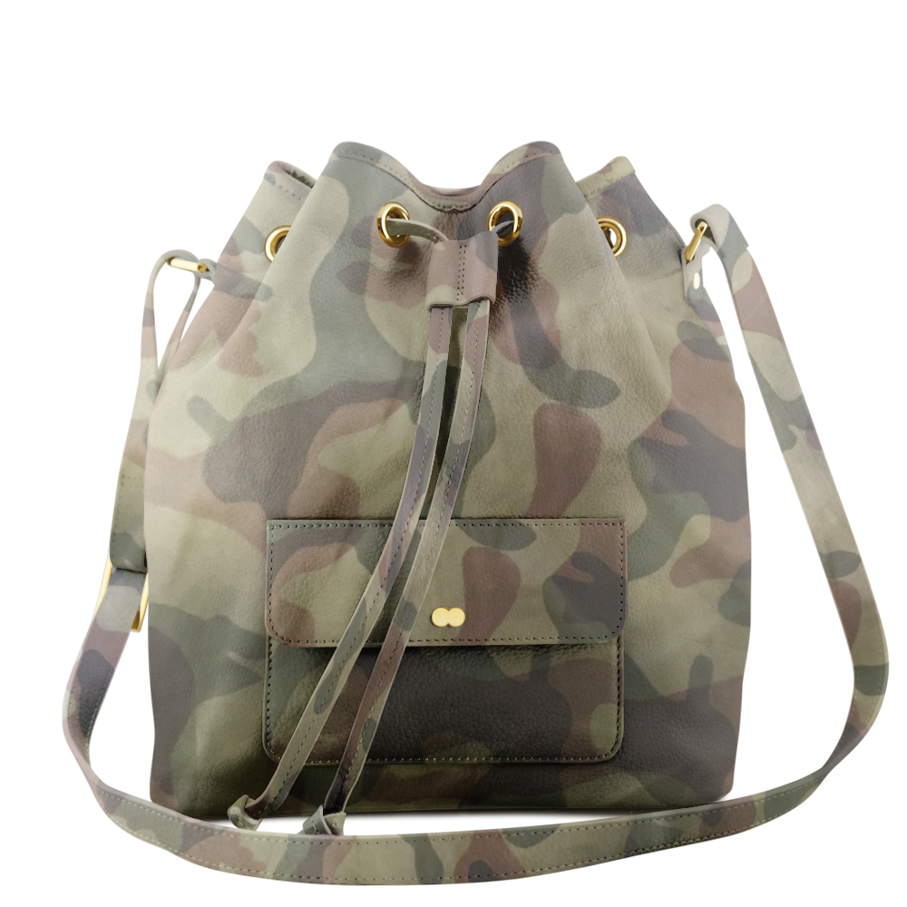 VICKY Camouflage Jungle Green Handtasche Abendtasche Project OONA Ledertasche Ledermuster Made in Germany