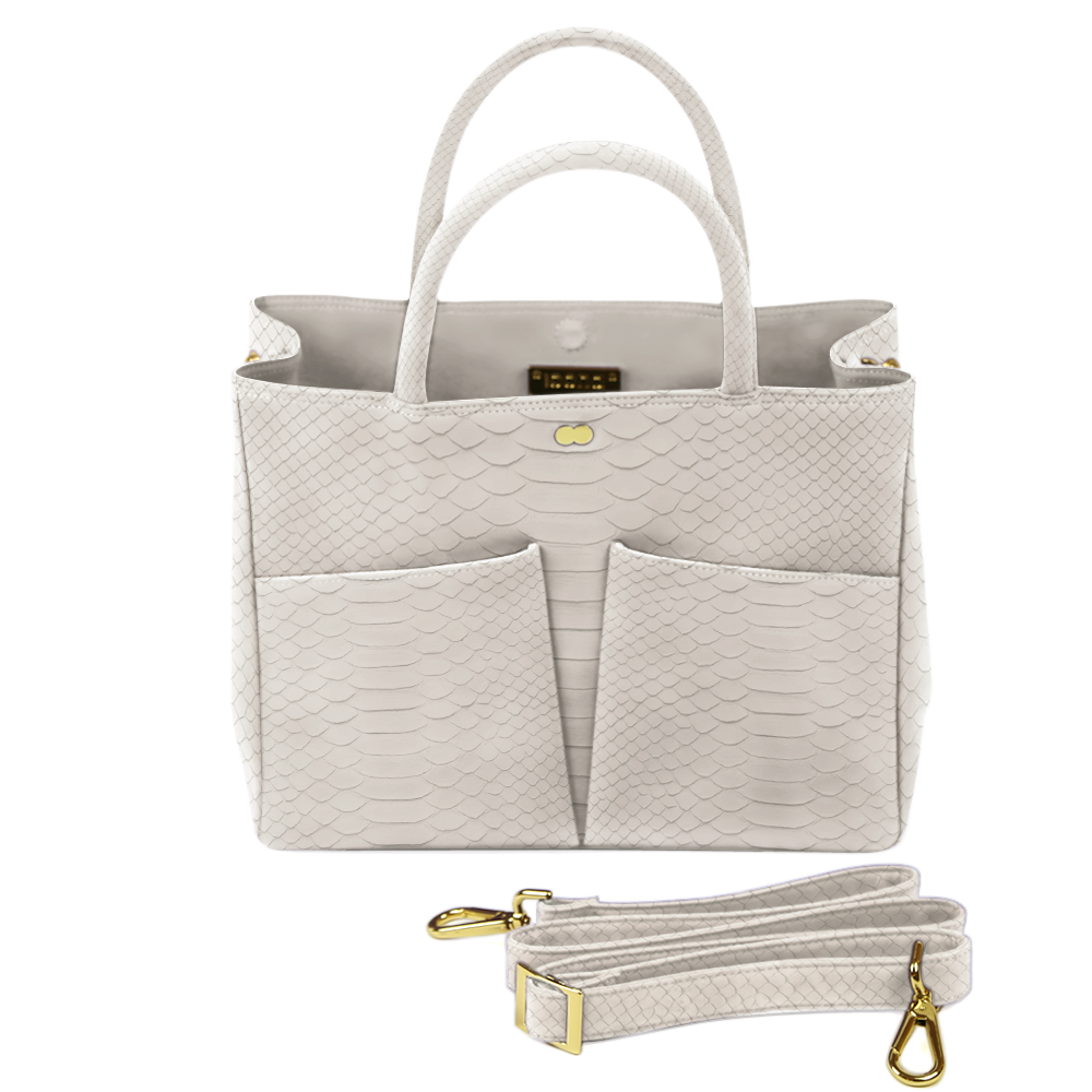 Business Tasche Python Taupe Beige LETIZIA Project OONA